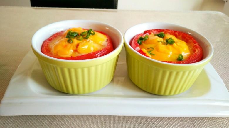 芝士番茄烤蛋