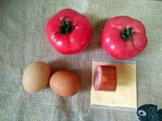 芝士番茄烤蛋,准备食材