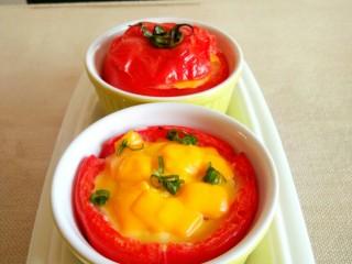 芝士番茄烤蛋,再烤5分钟