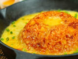 韩式蛋浆火山炒饭