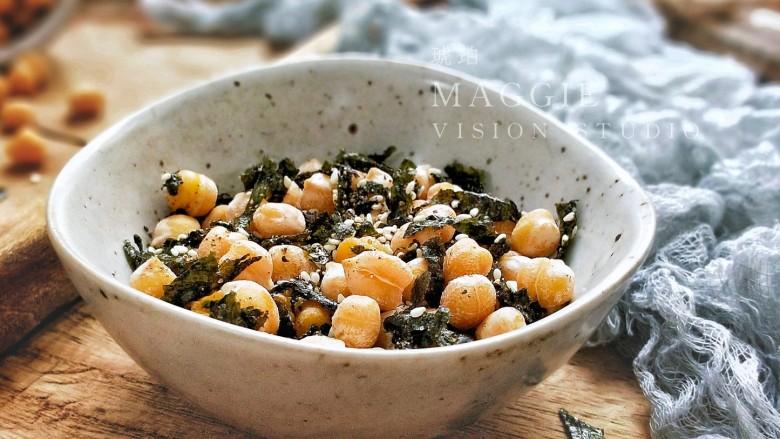 海苔芝麻烤鹰嘴豆