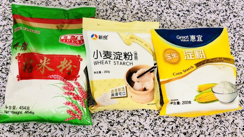 自制广式肠粉,只要是这三种粉,随便什么牌子都可以