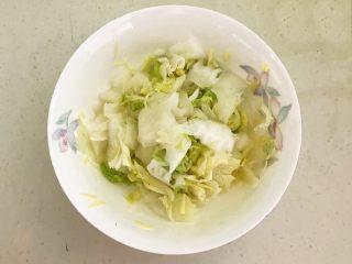 开胃小菜  酸辣白菜,调匀后腌制15分钟