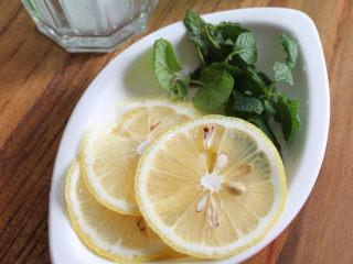 Mojito 莫吉托,薄荷洗净,柠檬切片,备用