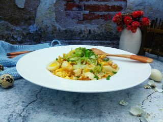 明虾鹌鹑蛋炒饭