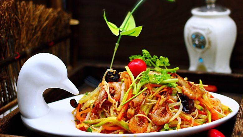 海虾什锦凉拌菜