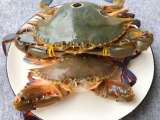 葱姜炒蟹,三眼蟹500g