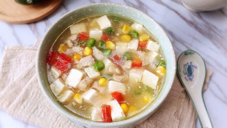 什锦豆腐羹,营养美味!