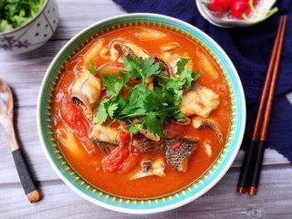 了不起的小番茄+ 酸汤乌鱼片(冬阴功汤版),酸辣开胃!