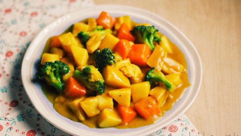 土豆红薯鸡胸咖喱