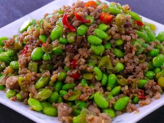 最开胃的下饭菜毛豆炒肉末