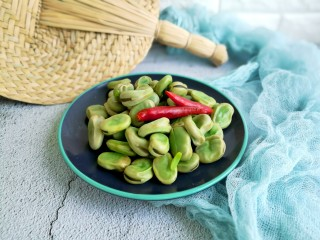 春天中的一抹绿-古早盐水蚕豆