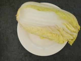 芝麻酱白菜,先准备一颗圆白菜