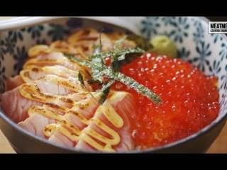 三文鱼子盖饭