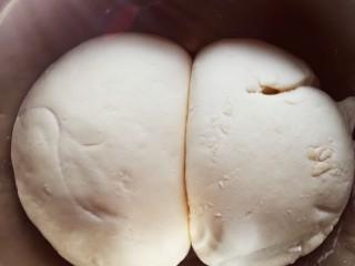 香菇包,发酵好的面