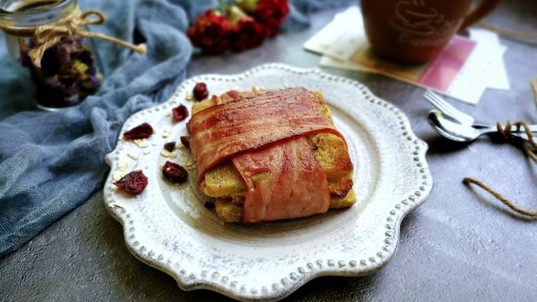 芝士培根三明治,成品图!