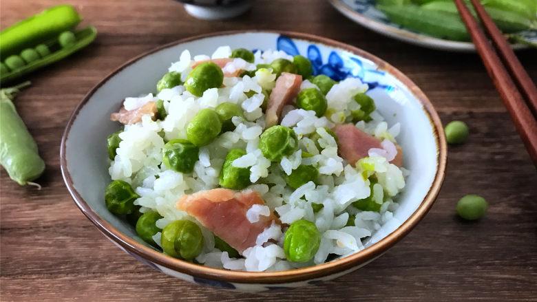 咸肉豌豆糯米饭