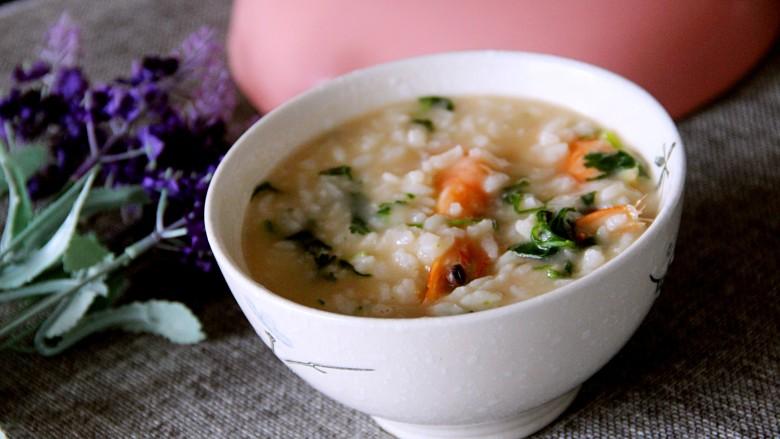 鲜虾砂锅粥,盛一碗喝吧