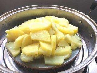 小零食+土豆泥曲奇,蒸好后取出