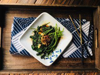 凉拌红薯叶,无污染无添加绿色食品。