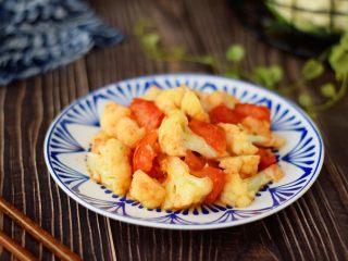 番茄菜花,成品图