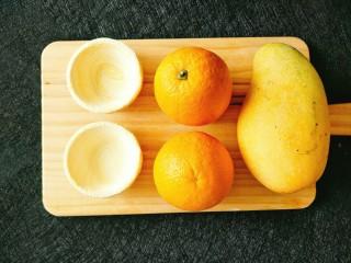 芒果酥,原材料合影