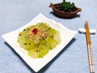 虾皮拌冬瓜,冬瓜多吃对身体有好处并且既方便又快捷