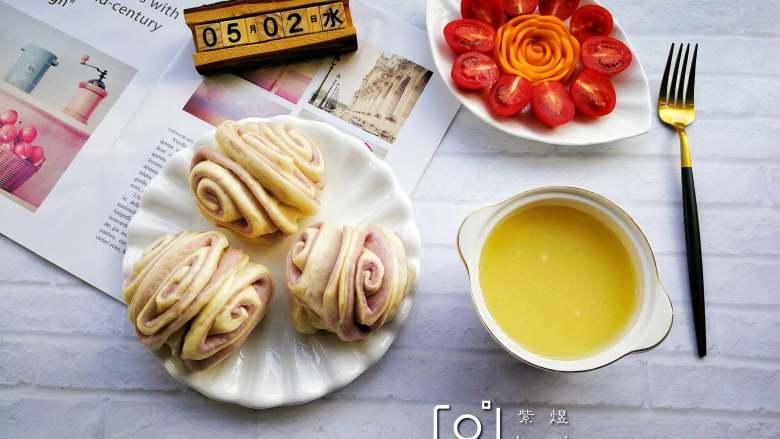 双色花卷,美味的早餐