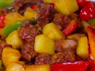 酸甜可口的菠萝咕噜肉