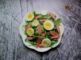 减肥色拉,最后摆上鸡蛋