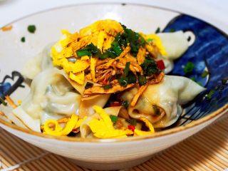 上海小吃-干挑鸡丝荠菜大馄饨- 两种包法,趁热拌起来吃吧