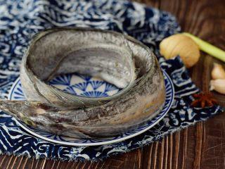 红烧带鱼,准备好材料