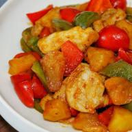 膳叔快手低卡營養餐:雙椒菠蘿雞片