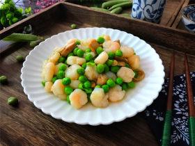 豌豆草菇虾仁