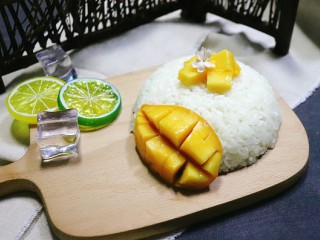 芒果糯米饭,完成图。