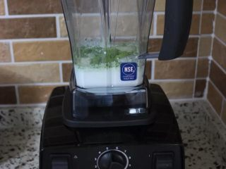 夏日小清新~抹茶星冰乐,启动破壁机几十秒。