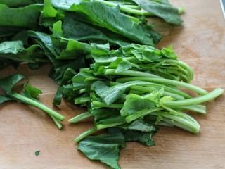菠菜拌粉丝,菠菜洗净切长段