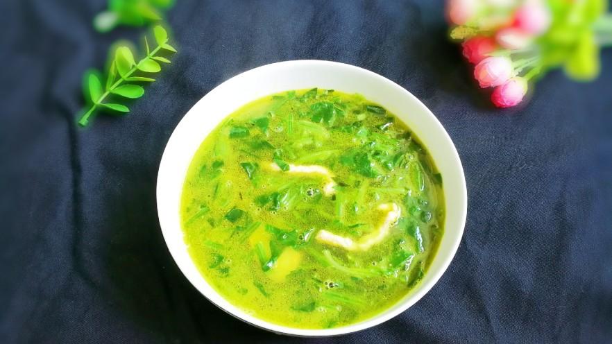 菜油肉丝菠菜汤