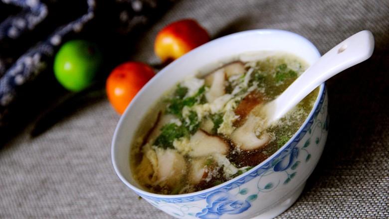 营养汤羹~香菇鸡蛋汤