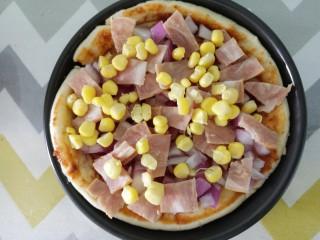 自制披萨,再撒玉米粒