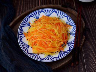 清炒胡萝卜土豆丝