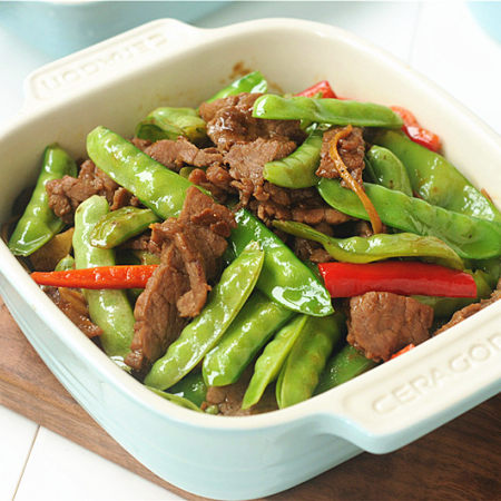 豌豆烧牛肉