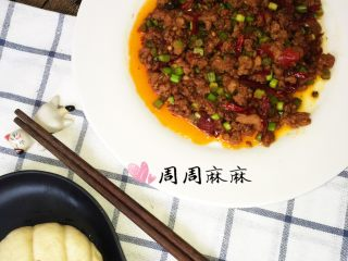 蒜苔炒肉末,饼夹标配
