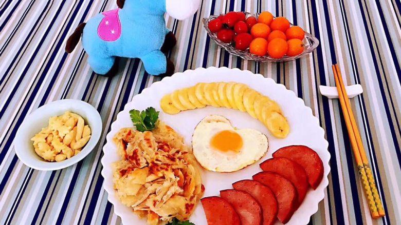 手抓饼开心早餐,好吃😋的要和大家一起分享哦