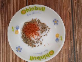 羊肉炒香菜,半勺辣椒粉
