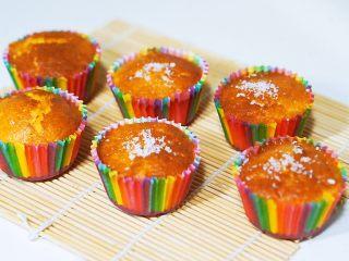 空气炸锅版-全蛋液-无黄油纸杯蛋糕,开吃吧😊