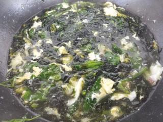 紫菜鸡蛋菠菜汤,然后就做好了