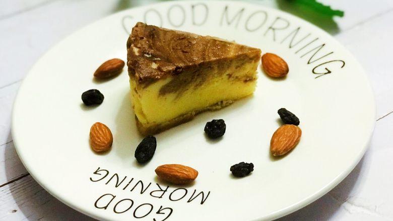 浅湘食光&摩卡芝士蛋糕,烤箱160度50分钟,取出冷却入冰箱冻4小时