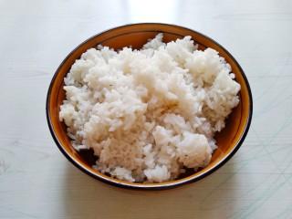 五彩炒饭,剩米饭一碗