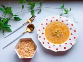 【宝宝辅食】12M+,虾松杂蔬炒饭,营养搭配:虾松杂蔬炒饭+金汤娃娃菜